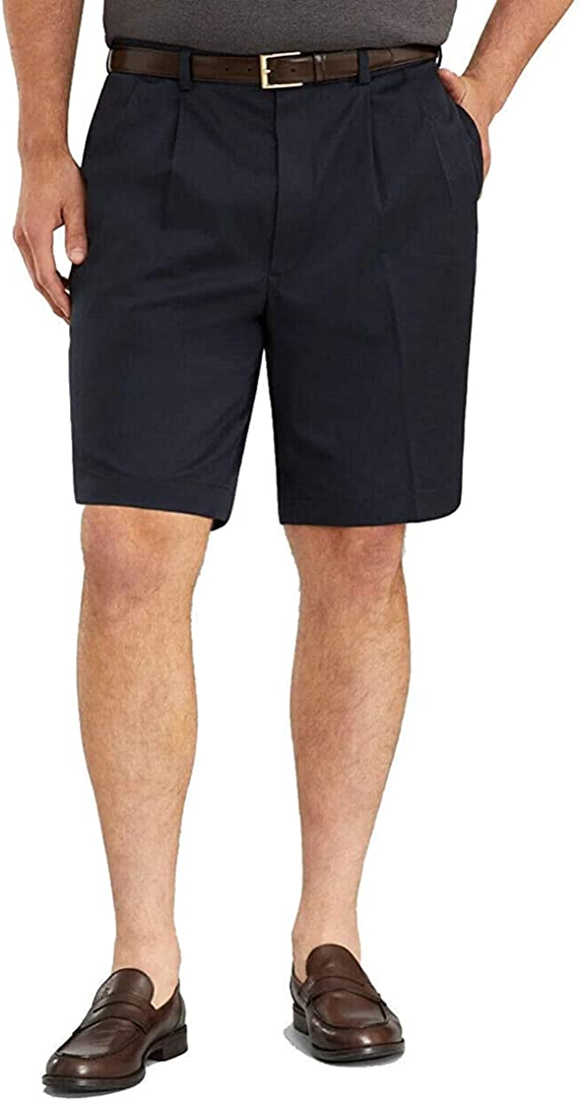 Brooks Brothers Men's 27191 St Andrews Links Pleat-Front Shorts, Navy