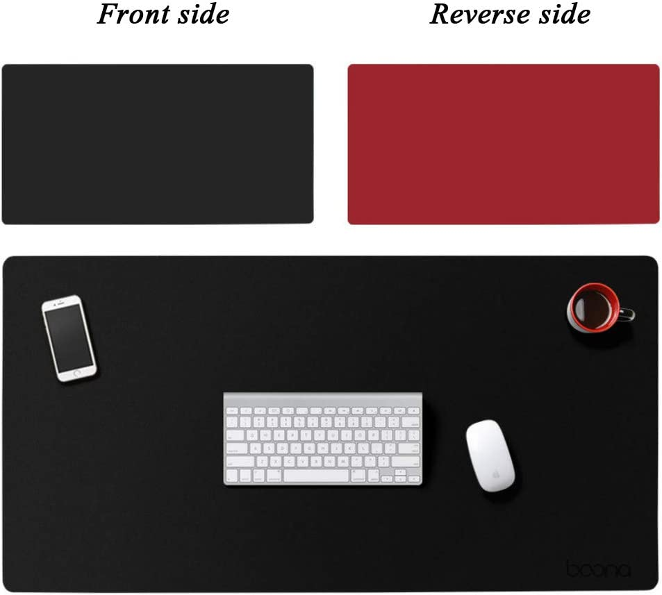 47x24inch JiaQi Double Side Leather Mouse Pad,Ultra Thin Waterproof Table Pad,Durable Mousepad Ideal for Office Computer Pc Keyboard and Mouse-t 120x60cm