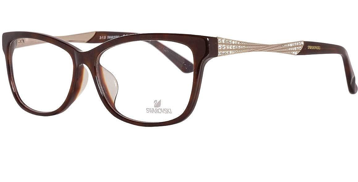 Marrone Braun Swarovski Brille SK5145-F 56052 Montature 56 Donna