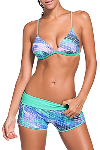 Sovoyant Womens Triangle Swimsuits Boyshort