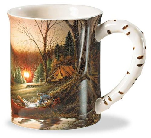 Solitude By Terry - Morning Solitude Camping Sculpted Mug by Terry Redlin