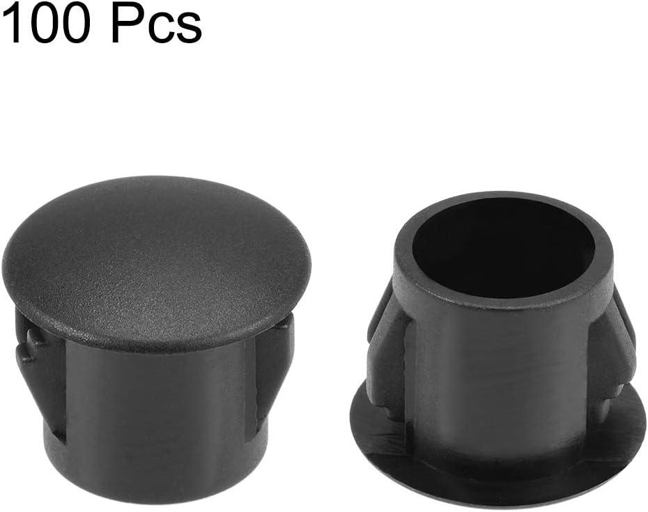 100 x 8mm Black Hole Decorative Finishing Plug *Value Pack*