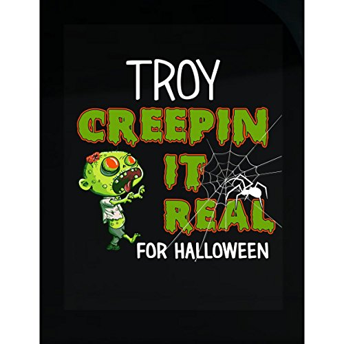 Prints Express Troy Creepin It Real Funny Halloween Costume Gift - Sticker -