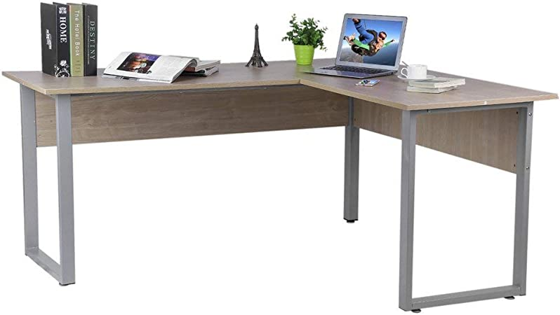 ALTERDJ 160 x 140 x 74 cm Ordenador Mesa Escritorio L – Forma de ...