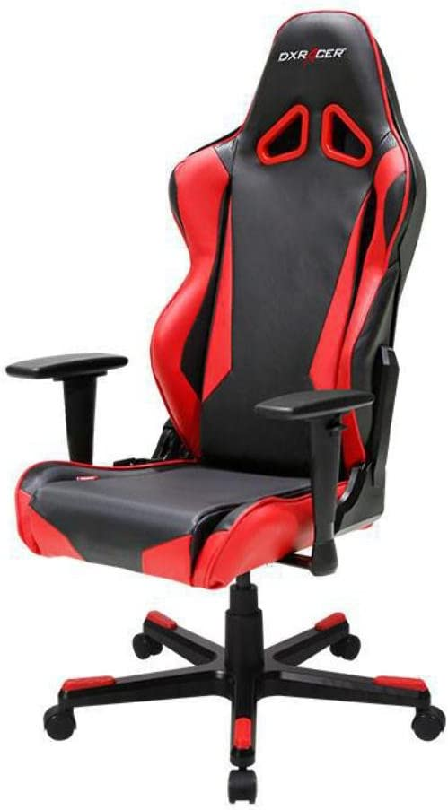 DXRacer OH RB1 NR Black Red Racing Series Gaming Chair Ergonomic High Backrest Office Computer Chair Esports Chair Swivel Tilt and Recline with Headrest and Lumbar Cushion Warranty