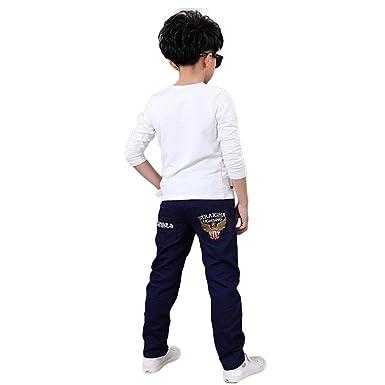 d03fe8bfb8589 Ouneed® Enfant Garcon 5-11 Ans Cowboy Jean Denim Pantalon: Amazon.fr ...