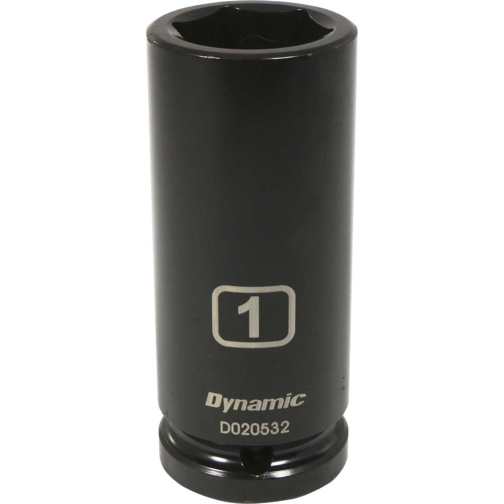 Impact Socket Dynamic Tools 3//4-Inch Drive 6 Point SAE 1-5//16-Inch Deep Length