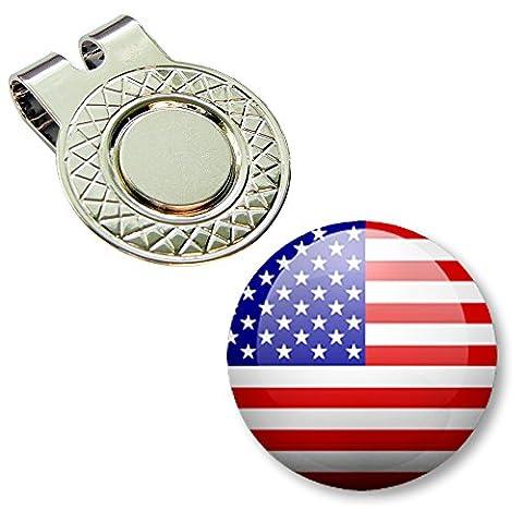 BUSHMANCRAFT 1 Golf Ball Marker + 1 Magnetic Hat Clip Set (NF_USA_1) - Magnetic Ball Marker