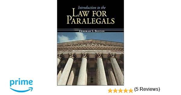 Introduction to the law for paralegals mcgraw hill business introduction to the law for paralegals mcgraw hill business careers paralegal titles deborah benton 9780073511795 amazon books fandeluxe Image collections