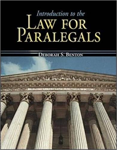 Introduction to the law for paralegals mcgraw hill business introduction to the law for paralegals mcgraw hill business careers paralegal titles 1st edition fandeluxe Image collections