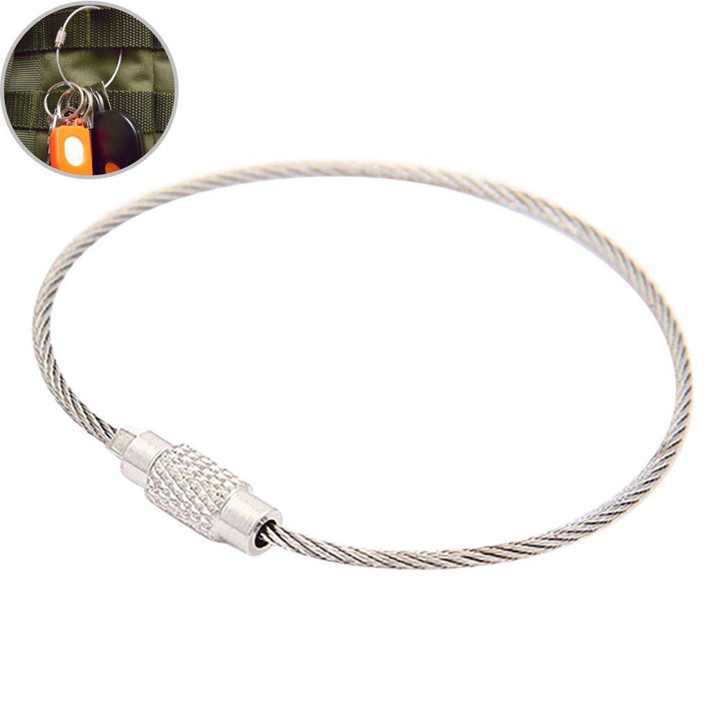 Fansport Llavero Clave Cable De Acero Inoxidable Anillo De ...