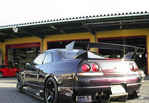 FidgetFidget Carbon Fiber Bee-R GT Spoiler Fit GTR Rear Base 5pcs for Nissan Skyline R33 GTR