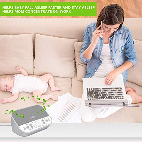 Housbay Sound Machine – White Noise Machine for Sleeping with 28 Soothing Sounds Headphone Jack High Quality Speaker 4 Sleep Timer Sound Therapy for Baby Kids Adults Seniors Gray
