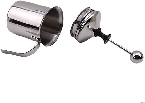 MOONRING en Acier Inoxydable Milker Double Grille Cappuccino Lait Couverture Cheveux Outils DIY Fantaisie Caf/é Art Creamer Outils
