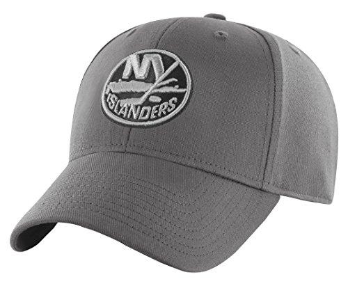 OTS Adult Men's NHL Comer Center Stretch Fit Hat, Charcoal, Medium/Large