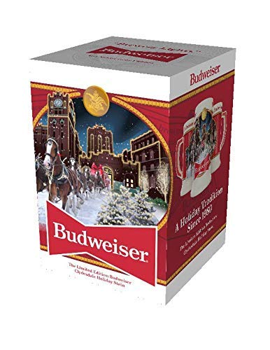 Budweiser 2020 Clydesdale Holiday Stein - Brewery Lights One Size, Multicolor