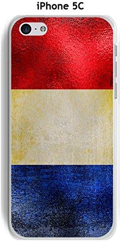 Cover Apple iPhone 5C Design Bandiera Francia Vintage effetto metallizzato