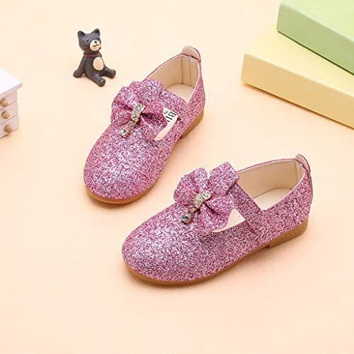 Mysky Kids Baby Girls Sweet Crystal Pendant Bowknot Sequins Party Princess Shoes Pink by Mysky (Image #4)