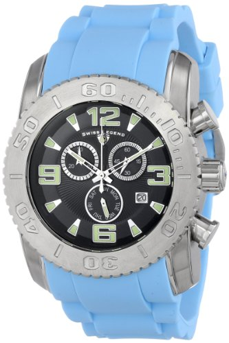 Swiss Legend Men's 10067-01-BBLS Commander Analog Display Swiss Quartz Blue Watch (Mens Commander Chronograph Watch)