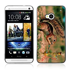 Designer Depo Hard Protection Case for HTC One M7 / Squirrel Smoking