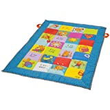 Taf Toys Play Mat with Mirror, Plastc Rings, Teether and Crinkling Tail