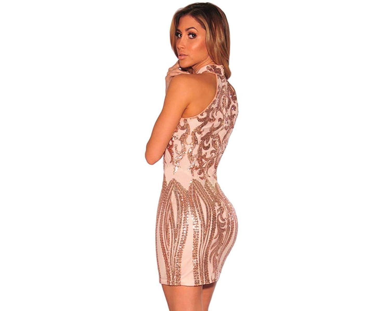 Carolina Dress Vestidos Sexys Casuales Cortos Dorados De Fiesta Ropa De Moda Para Mujer 2018 De