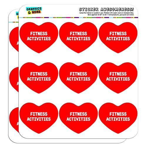 Graphics and More I Love Heart Fitness Activities Planner Calendar Scrapbooking Crafting Stickers - 18 2