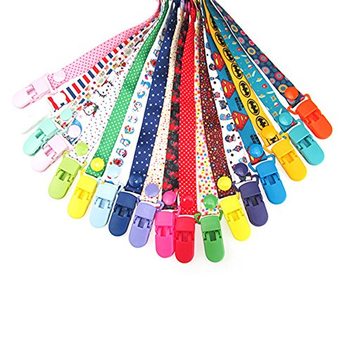 Baby Dummy Clips Pacifier Holder Strap, Baby Stroller Hooks, 8 Pack Baby Toy Pacifier Dummy Clip New Sippy Pal Baby Bottle Strap Clip Hanger for Stroller Pram (8 Colors) by Yueunishi (Image #4)
