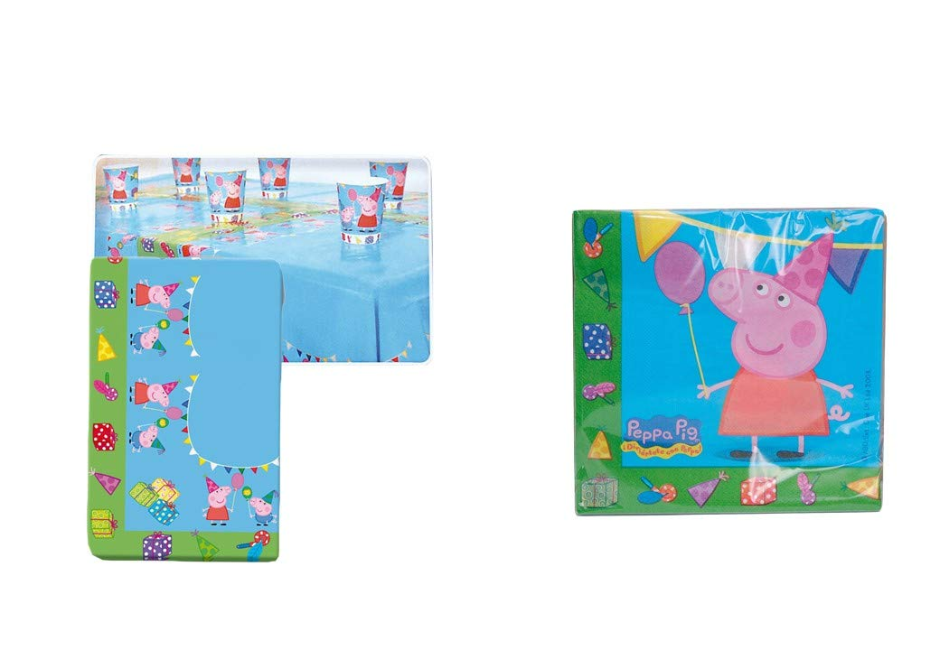 Peppa Pig 0543, Lote cumpleaños, Mantel Fiesta plástico ...