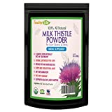 Liver detox cleanse milk thistle seed powder for liver rescue support without pills - 60 grams - 2 unit bundle| USDA Certified| Made in USA