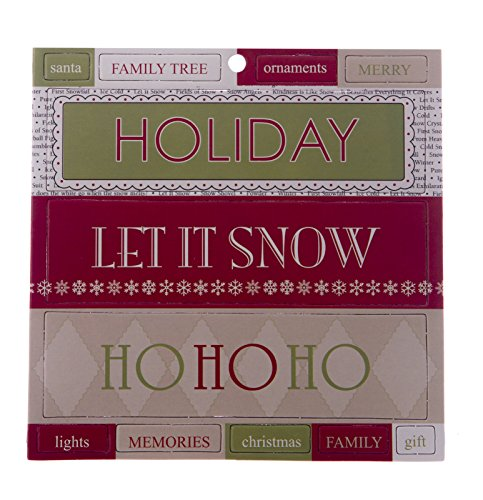 JUNKITZ Teresa Collins Homespun Holiday Theme Chipboard Titlez 1 Sheet #06295 NEW Teresa Collins Christmas