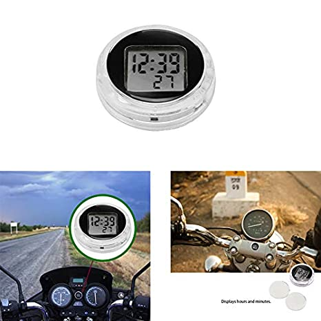 Amazon.com: Powstro Motorcycle Motorbike Watch Mini Pocket Universal Stick-On Motorcycle Digital Watch Clock with Stopwatch Function IP64 Waterproof (1 PC): ...
