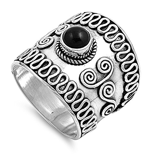 Prime Jewelry Collection Sterling Silver Elegant Women's Bali Ring (Sizes 6-12) (Ring Size 11) by Prime Jewelry Collection