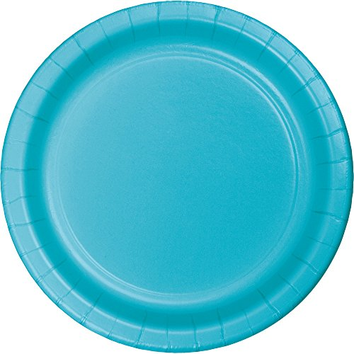 Creative Converting 553552 Touch of Color 96 Count Dinner/Large Paper Plates, Bermuda Blue
