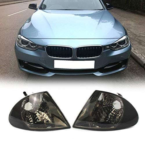 Carvicto - 1 Pair Clear Lens Parking Turn Signal Indicator Corner Lights for 3 Series E46 1999-2001 Car Lights Sedan Signal Lamp