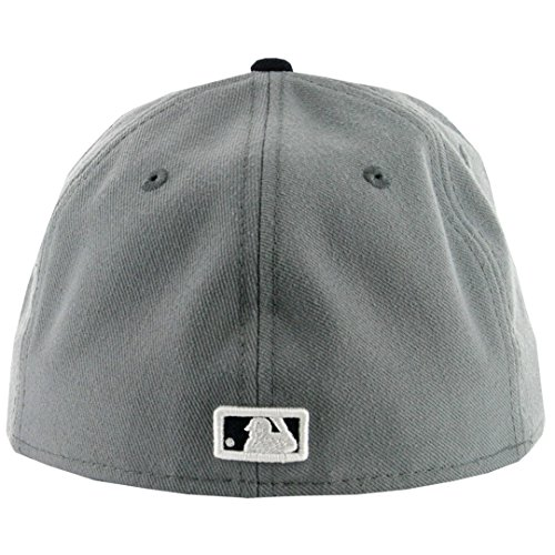 6f6342dbf39a0 New Era 5950 San Diego Padres Fitted Hat (Storm Grey Navy White-NV) Mens  MLB Cap