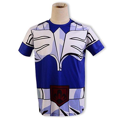 Seiya Cosplay Saint Costume (Saint Seiya Cosplay Costume Cygnus Hyoga Phoenix Ikki T-Shirt Tee)