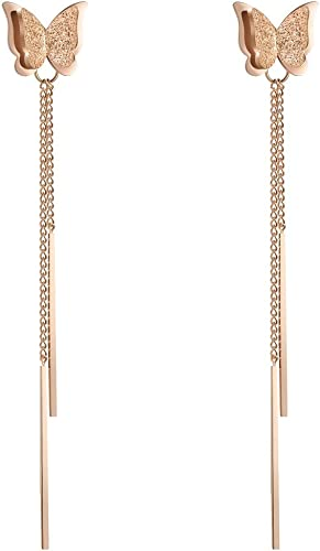 Fashion Charm Gold Tone Crystal Rhinestone Butterfly Stud Earrings Jewelry-Best