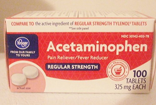 KROGER REGULAR STRENGTH ACETAMINOPHEN, 325MG EACH, 100 TABLETS by Kroger
