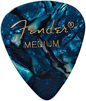 Thin White Moto Fender 351 Premium Celluloid Guitar Picks 12-Pack