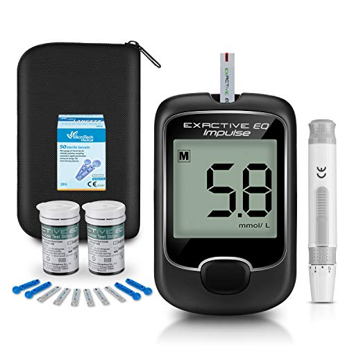 Blood Sugar Tester Diabetes Testing Kit [2019 Upgrade] Blood Sugar Tester with 50 Codefree Test Strips and 50 Lancets…