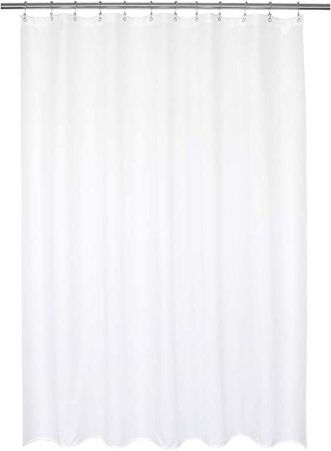 Bath Shower Curtain Premium Polyester Fabric Liners Bathroom Water Resistant
