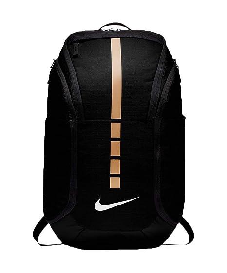 huge discount 8b7f1 197d8 Amazon.com  Nike Hoops Elite Hoops Pro Basketball Backpack,Black Metallic  Gold,One Size  Clothing