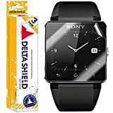 Sony SmartWatch 2 Screen Protector [3-PACK], DeltaShield BodyArmor - Premium HD Ultra-Clear Cover Shield with Lifetime Warranty Replacements - Anti-Bubble & Anti-Fingerprint Military-Grade Film