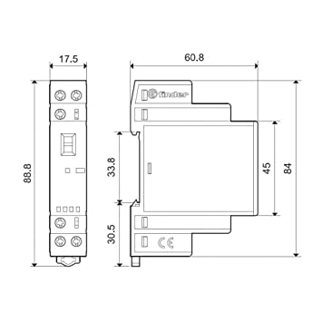 Finder Serie 22 – Schütz Modular 1 NA + 1NC 230 V Agni Selector ...
