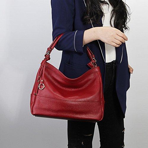 main à fashion portés en Sac bandoulière Valin Bordeaux portés 6024 Sac épaule cuir Sac main LF Sac femme FqwwXxvtP