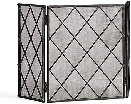 暖炉スクリーン 家の折り畳み式の暖炉スクリーン-3つのパネルの固体赤ん坊の安全F-屋内/屋外のための従来の炉の火花フレーム