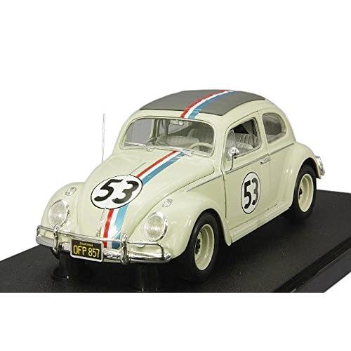 Hotwheels - Elite - BLY59 - Volkswagen Beetle - Herbie - 1/18 - Blanc