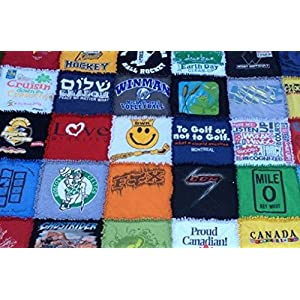 Image of Customized Rag Tshirt Quilt Home and Kitchen
