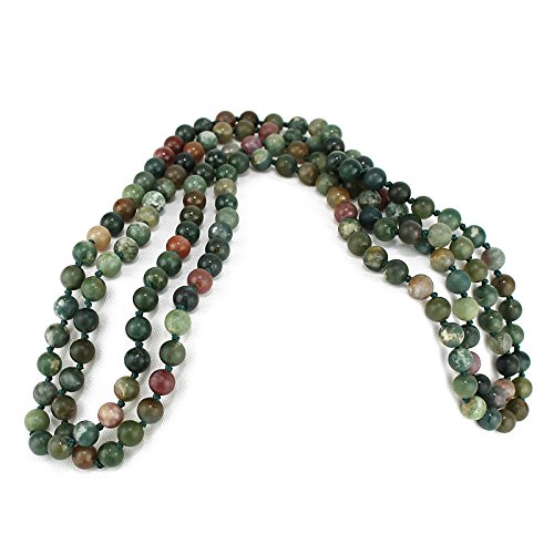 ious Stone Beaded Long Necklaces, 60 inches (Fancy Jasper) (Fancy Jasper Necklace)